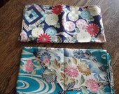 Two beautiful Japanese floral fabric pieces