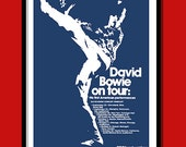 David Bowie Poster    First US Tour  1972  Promo  Large A2 (40 X60 CMS ) Print