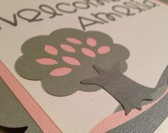 """SWEET DREAMS OWL """"welcome"""" """"it's a girl"""" Custom Door Sign"""