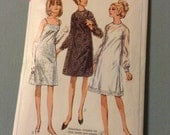 Vintage Simplicity 6784 Sheer Party Dress Sewing Pattern 34 Bust