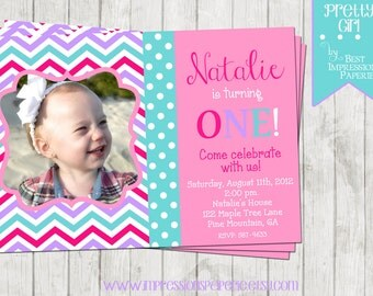 Pretty Girl - A Customizable Birthday Party Invitation
