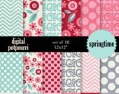 digital paper pack - springtime