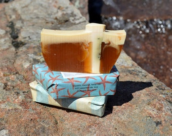Soap ~Large Bar~ Artisan Soap~ Handmade Soap~ Vegan Soap~Sweet Orange~ Clove Soap Olive Oil Coconut Oil All Natural Soap