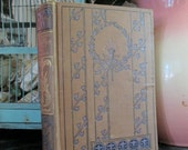Antique Book Autocrat Of the Breakfast Table Holmes Lavender Bow Torch Cover