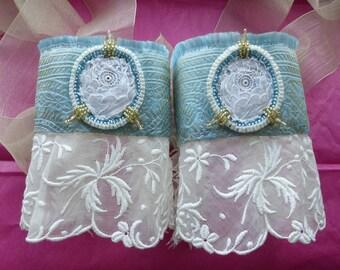 Old New Borrowed Blue Wedding Cuffs