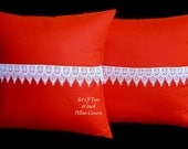 DecorativePillows, Accent Pillows, Throw Pillows Pillow Covers - Set of Two 18 inch Dark Rust