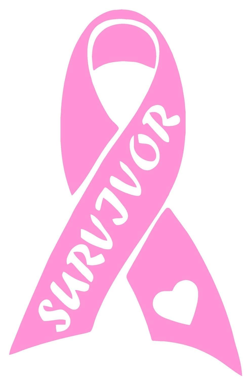 Breast Cancer Awareness Survivor Ribbon Vinyl Decal T58