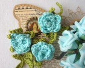 Petite Rose Bracelet and Necklace PDF Crochet Pattern - crochet necklace, rose bracelet, crochet rose,crochet accessory,photo tutorial