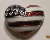 Cute Heart Flag Pin