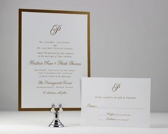 Gold Wedding Invitation Simple Wedding Invitation - Sample