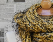 Black and Yellow Cowl with Fuzz
