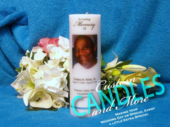 Photo Memorial Candle Personalized