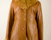 Brown Leather Coat, Genuine Leather Coat