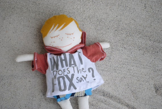 boy doll. what does the fox say? blonde freckled goodness.