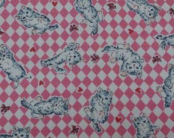 Japanese cotton fabric cat printed Half yard