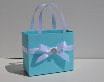 Blue party favor bags