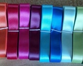 "5/8"" SATIN Ribbon, 5-yd bundles!  Bow making, Scrap booking, floral decor, sewing notions, crafts"