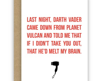 Valentine's Day Card, Love Card, Funny Card - Back to the Future - No. GCL007