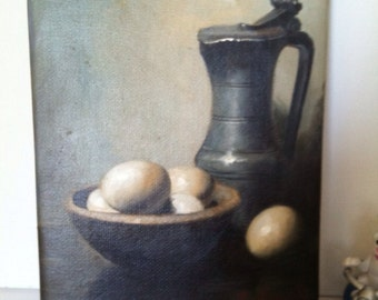 8*10 inch still life oil painting on stretched canvas