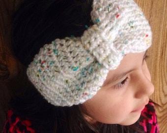 Bow earwarmer headband for child, teens, and adults