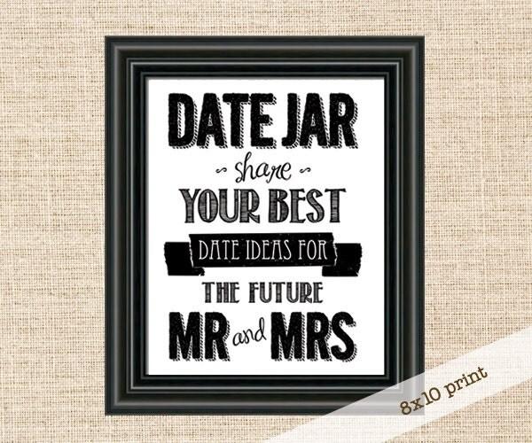 Wedding Night Advice: SALE Date Night Advice Jar Sign 8x10 Sign Give Your