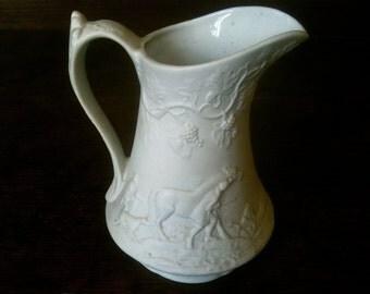 Vintage English White Porcelain Jug Pitcher circa 1970's / English Shop