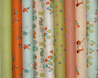 Just For Fun Fat Quarter Bundle of 11 by Marisa of Creative Thursday for Andover - 2 LEFT