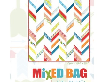 Mixed Bag Chevron Quilt Kit with Free Downloadable Pattern