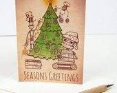 Robot Tree - Christmas Card