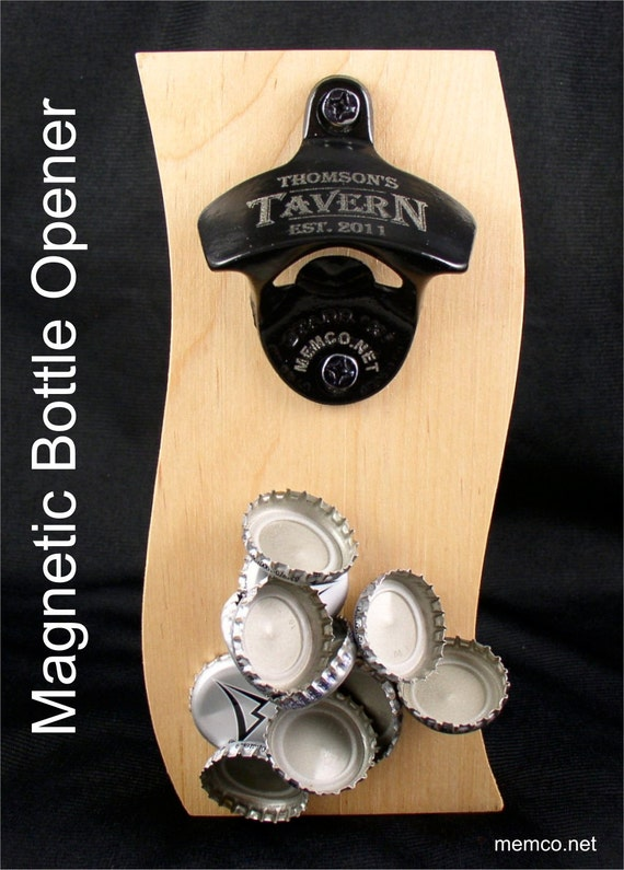 Magnetic wall mount bottle opener barware set stainless - Bottle opener wall mount magnet ...