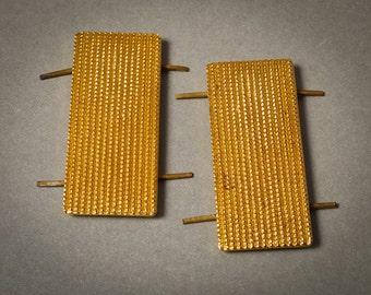 Vintage metal budges. Part of military uniform  strap.