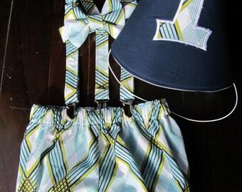 Smash Cake Outfit, Cake Smash Set, Birthday Outfit Bowtie Suspenders