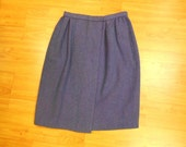 Vintage Designer Wool Skirt Carolyne Roehm