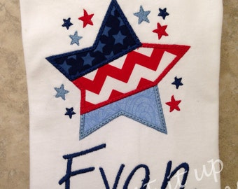 Personalize 4th of July Shining Star Shirt