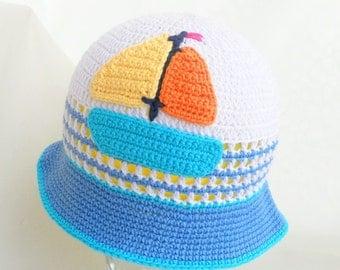 "Discount! Crochet baby hat ""Ship , summer baby hat, crochet summer hat, summer accessory , READY TO SHIP"