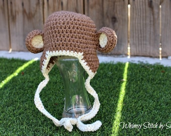 Little Monkey Hat ~ Photo Prop ~ Made to Order