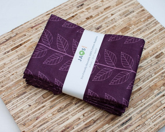 Eco-Friendly Large Cloth Napkins - Set of 4 - (N1032)