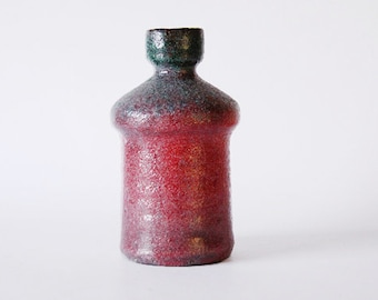Vintage Dutch Red Multi-Toned Vase - Afina  60s
