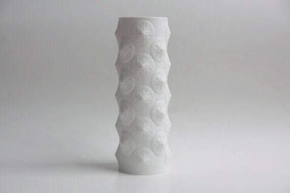 Vintage Tall Porcelain Op Art Vase - Scherzer 60s