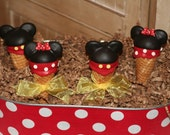 Mom's Killer Cakes & Cookies Original Design Girl and Boy Mouse Ice Cream Cone Cake Pops