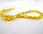 Bright Yellow Cultured Pearls for Interchangeable Multi Strand Necklace