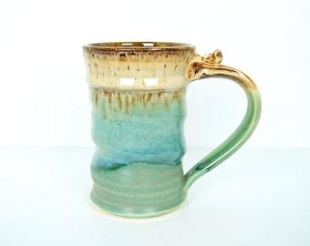 Tall Mug, Beer Stein, Beer Mug, Drinking Vessel, Handmade Wheel Thrown by RiverStone Pottery