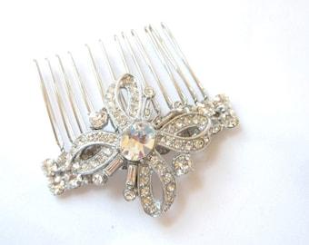 Crystal Bridal Hair Comb, Rhinestone Hair Comb, Crystal Wedding Hair Comb, Ready to Ship