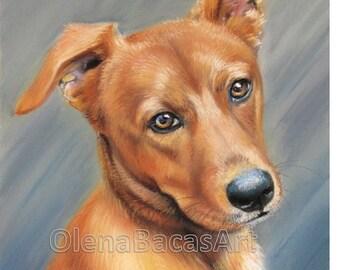 "Custom Dog Portrait 9""x12"""