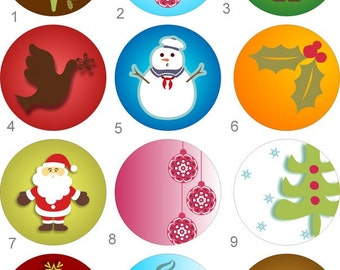 Christmas Holiday Snowman, Dove, ChristmasTree  2 1/4 inch Pocket Mirror your choice of one