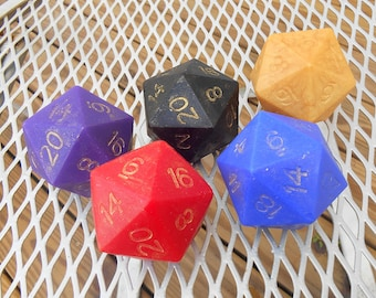 Critical Hit D20 Gamer Dice Soap
