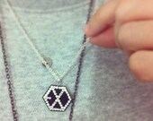 EXO handmade polymer clay necklace