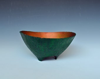 Woodturned , Carved and Painted Bowl