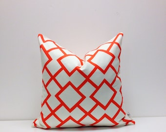 DWH - Diamond in the Rough - Tangerine - Pillow cover