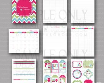 Christmas Planner Printable Bundle Pack (9 pages) PDF Printable Files - Instant Digital Download